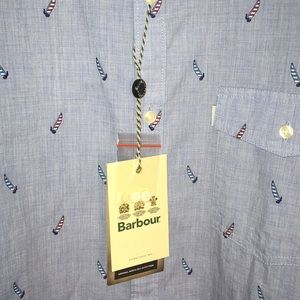 Barbour Chambray Mens Button Down Sail…